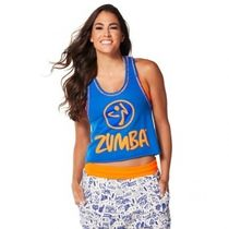 ZUMBA(ズンバ) レディース・トップス 国内在庫 Zumba Get Loose In The City Crop Top Surfs Up Blue