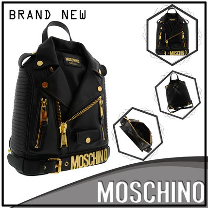 【2017SS新作☆日本未入荷】Moschino☆LOGO JACKET BACKPACK