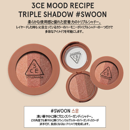 3 CONCEPT EYES アイメイク [NEW]3CE MOOD RECIPE TRIPLE SHADOW _トリプルシャドー(6)