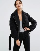 Missguided(ミスガイデッド) ジャケット Missguided × Faux Shearling Aviator Jacket