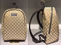 GUCCI(グッチ) バックパック・リュック GUCCI★セール★GG CANVAS WITH BROWN LEATHER TRIM BACK PACK