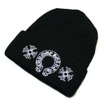 【CHROME HEARTS クロムハーツ】ニット帽 Watch Cap +Horseshoe+