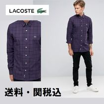 Paul Smith(ポールスミス) Tシャツ・カットソー Lacoste Live Shirt With チェック ブラック スキニー フィット