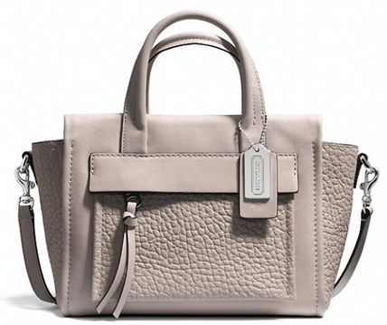 COACH★BLEECKER MINI RILEY CARRYALL IN LEATHER