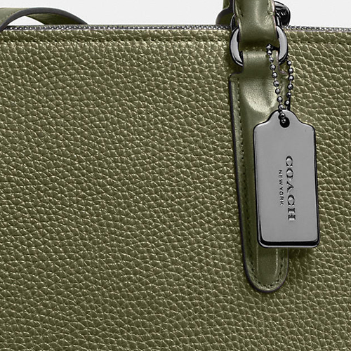 COACH★BROOKLYN CARRYALL 34 IN PEBBLE LEATHER  57276