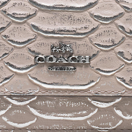 COACH★SOFT WALLET IN EXOTIC EMBOSSED LEATHER 55907