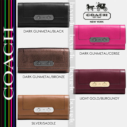 COACH★SWAGGER SLIM ENVELOPE WALLET IN PEBBLE LEATHER 54062