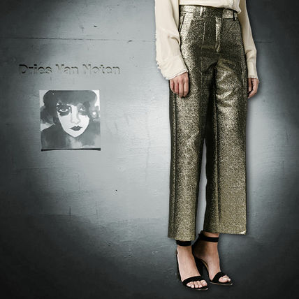 16AW Dries Van Noten(ドリス) Pulley Cotton Cropped Trousers
