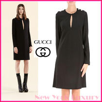 GUCCI★グッチ★素敵!BLACK Sable Stretch Dress