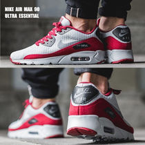 NIKE★AIR MAX 90 ULTRA ESSENTIAL★WOLF GREY/TEAM RED