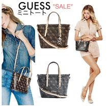 Guess☆限定セール☆ス人気☆ロゴ2ウェイミニトート(2色)