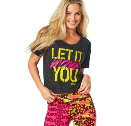 10月の新作 ZUMBA★ LET IT MOVE YOU TEE ★ BACK TO BLACK