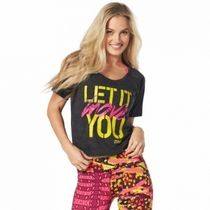 ZUMBA(ズンバ) レディース・トップス 国内在庫 ズンバ Zumba Let It Move You Crop Top Back to Black