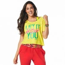 ZUMBA(ズンバ) レディース・トップス ★国内在庫★ Zumba Let It Move You Crop Top Mell-Oh Yellow