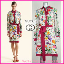 GUCCI★グッチ★素敵!FLORA PRINT CREPE DE CHINE SHIRT DRESS