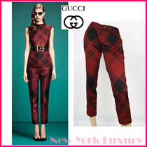 GUCCI★グッチ★素敵! MULTI COLORED CHECK PRINT PANTS