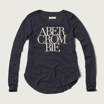 Abercrombie & Fitch Tシャツ・カットソー セール 【レディースM】アバクロEmbroidered Logo Graphic Tee