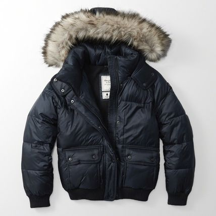 ★新作★送料込★A&F★REMOVABLE HOODED PUFFER JACKET★