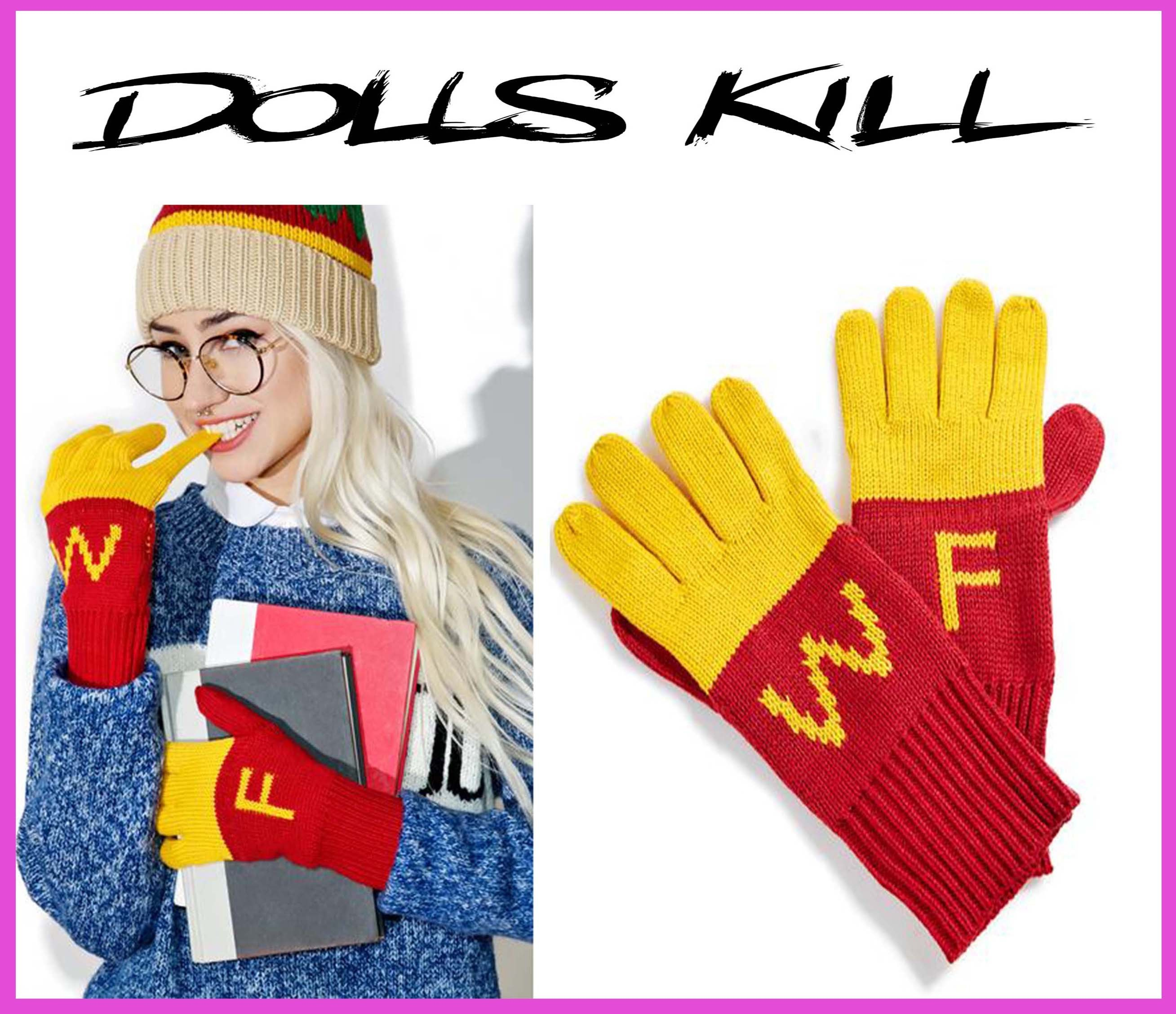 ☆日本未入荷☆新作DOLLS KILL*SUPER FRIES FINGER FOOD GLOVES
