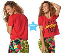 H28.10月新作☆【ZUMBA】Let It Move You Tee(Red)Z1T01158