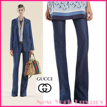 GUCCI★グッチ★素敵!Midnight Blue 70's WIDE PANTS JEANS
