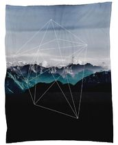 ◆JUNIQE◆Mountains II デザインブランケットBy Mareike Bohmer