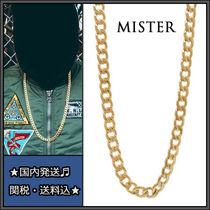 MISTER(ミスター) ネックレス・チョーカー 送料・関税込♪MISTER★大人気!CURB チェーンネックレス★Gold