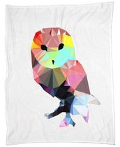 ◆JUNIQE◆Crystal Owl ブランケットBy Three Of The Possessed