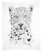 ◆仏発JUNIQE◆Lovely leopard ブランケット By Balazs Solti