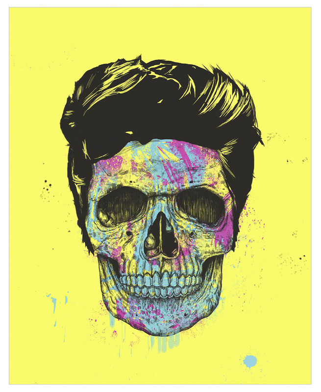 ◆仏発JUNIQE◆Color your death ブランケット By Balazs Solti
