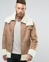 ASOS(エイソス) アウターその他 ◆ASOS◆Oversized Shearling Jacket in Cam◆関送込/アウター◆