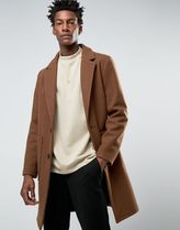 ASOS(エイソス) アウターその他 ◆ASOS◆Wool Mix Overcoat In Brown◆関送込/アウター◆