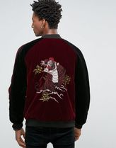 ASOS(エイソス) アウターその他 ◆ASOS◆Bomber In Velvet With Tiger Embro◆関送込/アウター◆