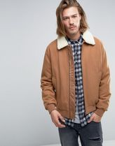 ASOS(エイソス) アウターその他 ◆ASOS◆Wool Mix Bomber Jacket With Borg ◆関送込/アウター◆