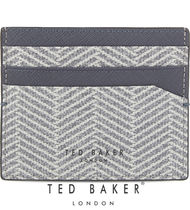 TED BAKER(テッドベイカー ) カードケース・名刺入れ 【TED BAKER】 HECKLE GY ヘリンボーン レザーカードホルダー