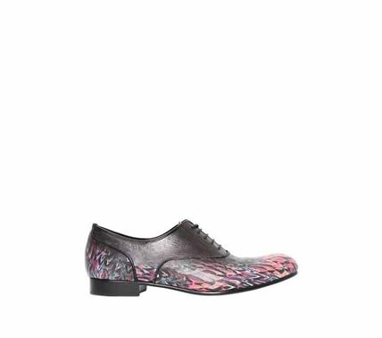 PRINTED LEATHER OXFORD LACE-UP SHOES