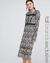 ASOS(エイソス) パーティー小物その他 True Decadence Tall Allover Lace Midi Dress With Frill Hem
