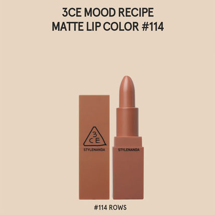 3 CONCEPT EYES リップグロス・口紅 3CE MOOD RECIPE  MATTE LIP COLOR-#114/#115/#116/#117/#909(3)