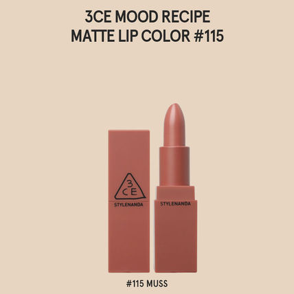 3 CONCEPT EYES リップグロス・口紅 3CE MOOD RECIPE  MATTE LIP COLOR-#114/#115/#116/#117/#909(5)