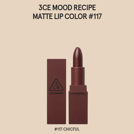 3 CONCEPT EYES リップグロス・口紅 3CE MOOD RECIPE  MATTE LIP COLOR-#114/#115/#116/#117/#909(9)