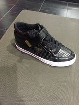 Guess Womens Glimmer Perforated Sneakers GFGLIMMER (Black)