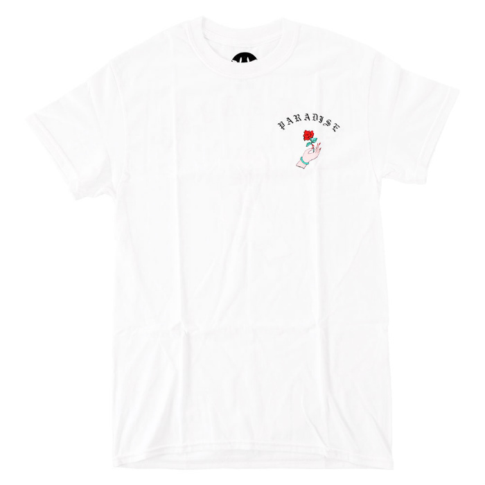 PARADISE Compliments Of Paradise Tee 白 Size LARGE