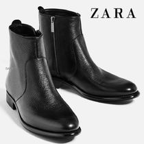 ●ZARA●冬新作♪SMART LEATHER ANKLE BOOTS♪Black
