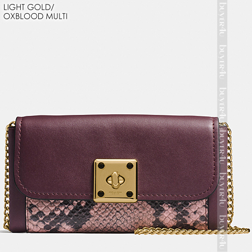COACH★DRIFTER WALLET IN EXOTIC EMBOSSED LEATHER 53994