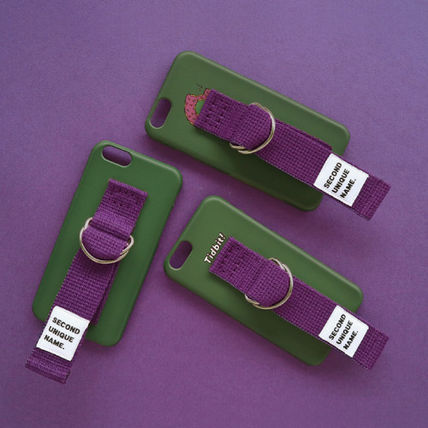 SECOND UNIQUE NAME スマホケース・テックアクセサリー ◆SECOND UNIQUE NAME◆SUN CASE DEEP GREEN PURPLE