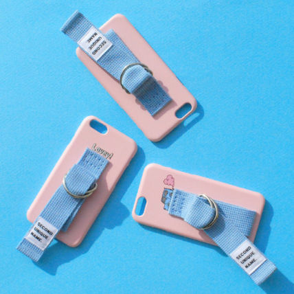 SECOND UNIQUE NAME スマホケース・テックアクセサリー ◆SECOND UNIQUE NAME◆SUN CASE LIGHT PINK LIGHT BLUE