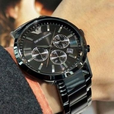 Sale Emporio Armani watches stainless steel black AR2453