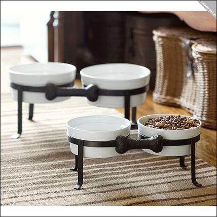 Pottery Barn pet ball & stand S size