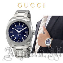 ★人気★GUCCI GG2570 XL Dark Blue Sun Brushed Dial YA142205