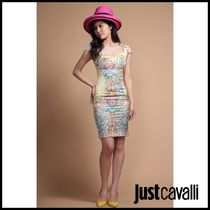 Just Cavalli 花柄半袖タイトワンピース[40]OUTLET PTX8718